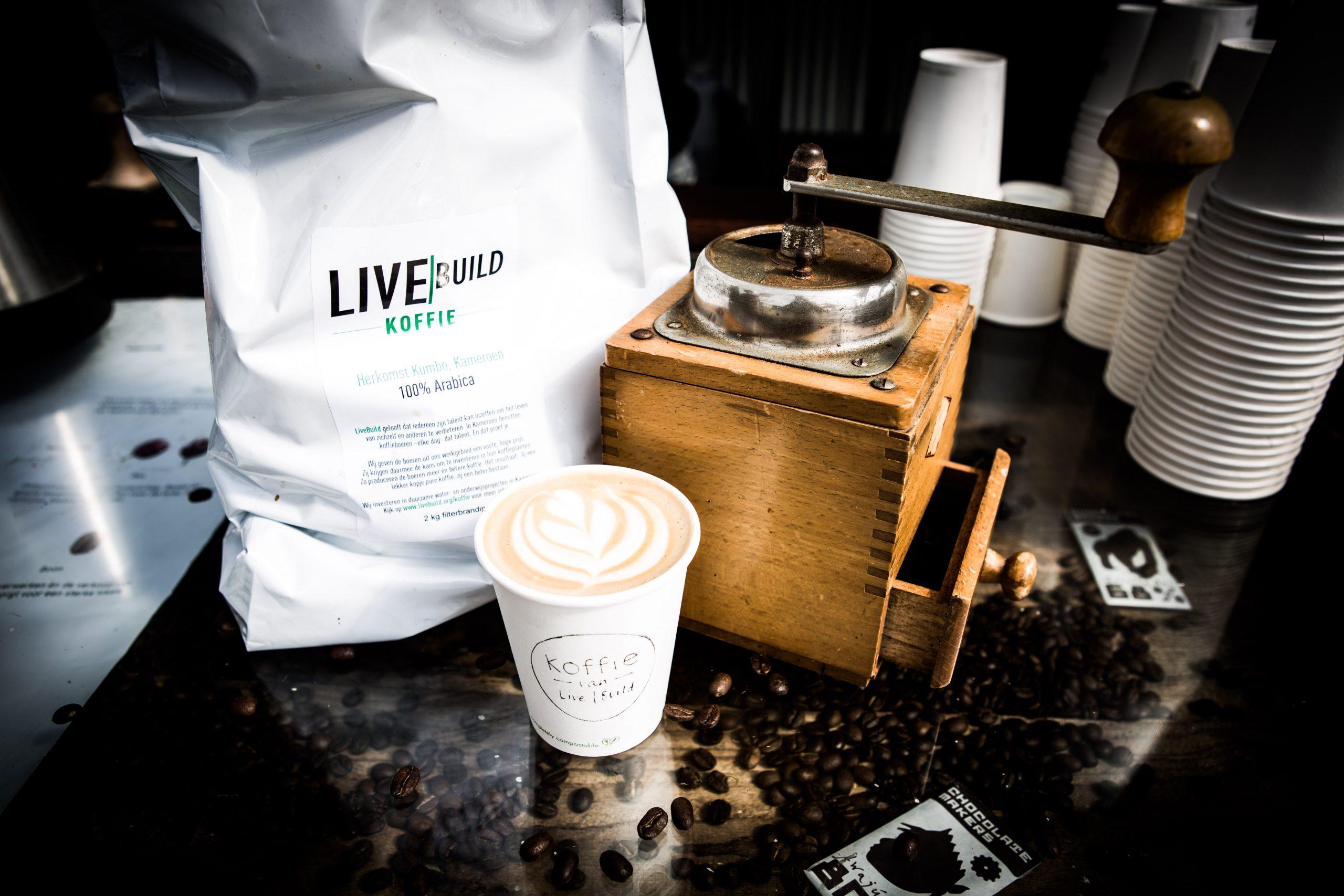 Koffie van LiveBuild op Mysteryland